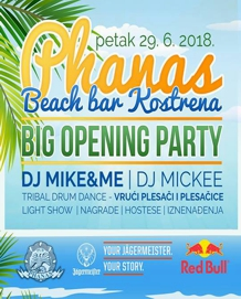Phanas Beach Bar Kostrena - Big Opening Party - 29.06.